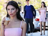 Mandatory Credit: Photo by Startraks Photo/REX/Shutterstock (5614485k)\nEmily Ratajkowski with boyfriend Jeff Magid\nEmily Ratajkowski out and about, Los Angeles, America - 16 Mar 2016\nEmily Ratajkowski stops for Coffee\n