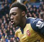 Danny Welbeck of Arsenal celebrates scoring the opening goal during the Barclays Premier League match between Everton and Arsenal played at Goodison Park, Liverpool on March 19th 2016