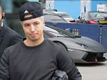 19.3.16...... The Manchester City team leave the Etihad Stadium after training for The Manchester Derby on Saturday morning....... Samir Nasri gets into his �200,000 Lambourghini Aventador.