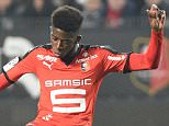 Rennes' French forward Ousmane Dembele kicks the ball   during the French L1 football match Rennes against Lyon on March 13, 2016 at the Roazhon park stadium in Rennes, western France. AFP PHOTO / DAMIEN MEYERDAMIEN MEYER/AFP/Getty Images