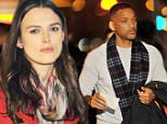 Keira Knightley and Will Smith spotted filming in a Diner on Manhattan's Houston Street. The pair were shooting a night scene for the movie 'Collateral Beauty'  in which they also star alongside Kate Winslet, Helen Mirren and Edward Norton.\nThe two actors appeared to be in good spirits, laughing in between takes despite the heavy emotional nature of the scene they were shooting in which Will Smith's character delivers bad news to his co star causing her to cry.  \nsales@theimagedirect.com Please byline:TheImageDirect.com