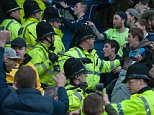 Mar 20th 2016 - Manchester, UK - MAN CITY V MAN UTD - Manchester utd and City fans trouble PIcture by Ian Hodgson/Daily Mail