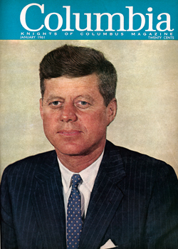 JFK on the cover of Columbia Magazine 1961