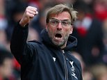 SOUTHAMPTON, ENGLAND - MARCH 20:  Jurgen Klopp manager of Liverpool celebrates during the Barclays Premier League match between Southampton and Liverpool on March 20, 2016 in Southampton, United Kingdom.  (Photo by Catherine Ivill - AMA/Getty Images)