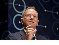 Alphabet chairman and ex-Google CEO Eric Schmidt caught using an iPhone