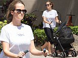 EXCLUSIVE: First pictures of Andy Murray and Kim Sears' daughter Sophia Olivia. Kim went for a stroll to a Starbucks in Miami, Florida, with her mother Leonore and baby Sophia. Kim sipped on an iced coffee while Sophia slept. Leonore took control of the push chair and comforted Sophie when she started crying on the walk home. Andy was busy training for next week's Miami Open tournament.