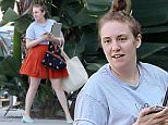 149610, EXCLUSIVE: A post-surgery Lena Dunham looks healthy as she heads to a meeting in LA. The 'Girls' star, recently hospitalized and having surgery for a ruptured ovarian cyst, appeared to carry an armful of stuff despited the number of bags she had. Los Angeles, California - Friday March 18, 2016. Photograph: Sam Sharma/JS, © PacificCoastNews. Los Angeles Office: +1 310.822.0419 sales@pacificcoastnews.com FEE MUST BE AGREED PRIOR TO USAGE