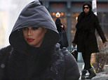 149716, EXCLUSIVE: Laverne Cox and Ivy Levan spotted on set of The Rocky Horror Picture Show remake in Toronto. Laverne looked a bit more like Dath Vader than an actress by covering up her hair and makeup. Toronto, Canada - Monday March 21, 2016. CANADA OUT Photograph: © PacificCoastNews. Los Angeles Office: +1 310.822.0419 sales@pacificcoastnews.com FEE MUST BE AGREED PRIOR TO USAGE