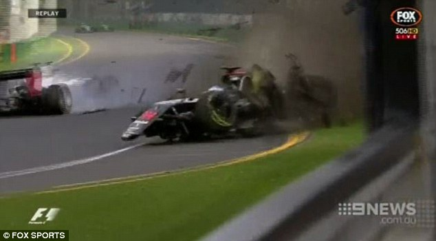 Alonso admitted he was 'lucky to be alive' after losing control of his vehicle and smashing into the barriers