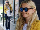 Picture Shows: Reese Witherspoon  March 19, 2016\n \n Actress Reese Witherspoon was spotted while out shopping for magazines in Brentwood, California. The 'Walk The Line' star looked cool and stylish in a bright yellow jacket and white tee.\n \n Non-Exclusive\n UK RIGHTS ONLY\n \n Pictures by : FameFlynet UK © 2016\n Tel : +44 (0)20 3551 5049\n Email : info@fameflynet.uk.com