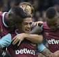 LONDON, ENGLAND - MARCH 19:  Manuel Lanzini (C) of West Ham United celebrates scoring during the Barclays Premier League match between Chelsea and West Ham United at Stamford Bridge on March 19, 2016 in London, United Kingdom.  (Photo by James Griffiths/West Ham United via Getty Images)