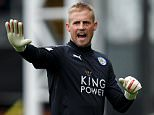 Goalkeeper Kasper Schmeichel of Leicester City during the Barclays Premier League match between Crystal Palace and Leicester City played at Selhurst Park Stadium, London on March 19th 2016