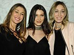 WEST HOLLYWOOD, CA - MARCH 17:  (L-R) Marielle Hadid, Bella Hadid and Alana Hadid attend Joe's Jeans and Bella Hadid celebration for the launch of the 2016 Joe's Jeans campaign at Sunset Tower Hotel on March 17, 2016 in West Hollywood, California.  (Photo by John Sciulli/Getty Images for Joe's Jeans)
