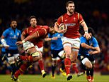 CARDIFF, WALES - MARCH 19:  George North of Wales races away to score during the RBS Six Nations match between Wales and Italy at the Principality Stadium on March 19, 2016 in Cardiff, Wales.  (Photo by Stu Forster/Getty Images)