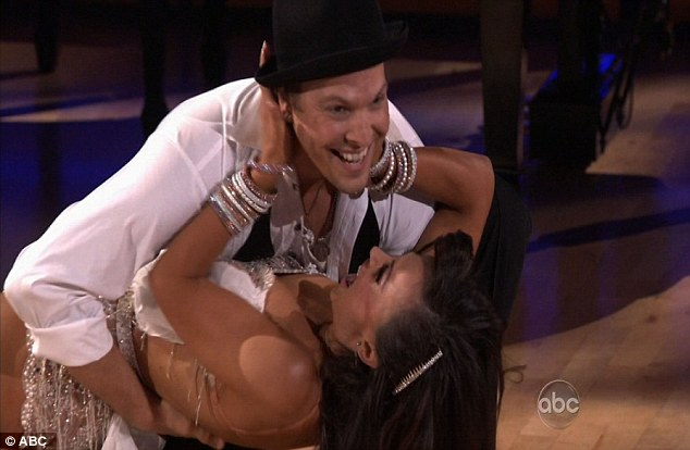 Getting better all the time: The judges' were pleased with Gavin DeGraw and partner Karina Smirnoff's rumba to Billy Joel