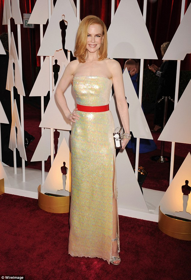 In love: The star, pictured at the Academy Awards at Hollywood & Highland Center last year, says she cannot bear to be apart from Keith for one day