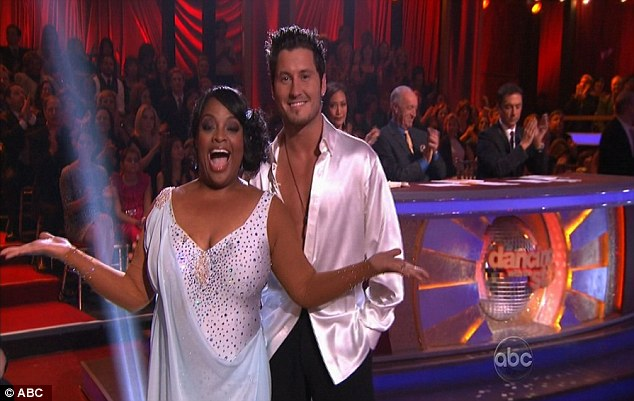 Joyful: Sherri was soon back to her bubbly self following the judges' praise for her dance