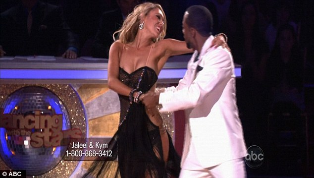 Delighted: Judge Carrie Ann Inaba told Jaleel he was 'back in the game' with this week's performance