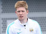Manchester City FC via Press Association Images MINIMUM FEE 40GBP PER IMAGE - CONTACT PRESS ASSOCIATION IMAGES FOR FURTHER INFORMATION. Manchester City's Kevin De Bruyne arrrives for training