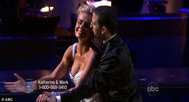 High emotion: The waltz formed part of the Most Memorable Year week on the show