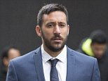 Former Newcastle United player Jonas Gutierrez arrives at City Tower in Birmingham this morning, for the start of his employment tribunal. March 22 2016.