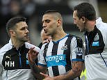 NEWCASTLE UPON TYNE, ENGLAND -  MARCH 20: Aleksandar Mitrovic of Newcastle (45) receives medical attention from Newcastle's Physiotherapist Michael Harding (L) and club Doctor Paul Catterson (R)  during the Premier League match between Newcastle United and Sunderland at St.James' Park, on March 20, 2016, in Newcastle upon Tyne, England. (Photo by Serena Taylor/Newcastle United via Getty Images)