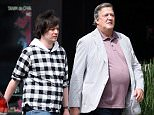 **EXCLUSIVE**  Date: March 21st 2016    Photo Credit:  MOVI Inc. Actor Stephen Fry 's bad eating habits appear to be rubbing off on his young husband, Elliot Spencer, as the pair sport matching bellies on an outing in Beverly Hills,CA. The couple certainly seem to be enjoying the good life as they did a spot of shopping and picked up a fancy coffee machine.