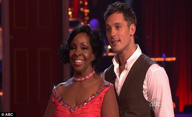 High hopes: The legendary singer and partner Tristan MacManus seemed pleased with the judges' comments