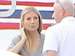 Please contact X17 before any use of these exclusive photos - x17@x17agency.com   Gwyneth Paltrow takes a private jet from Santa Monica airport out of Los Angeles. The A-list actor and enterpreneur travels in comfort wear, but an assistant carries a LBD abroad for her. Monday, March 21, 2016  X17online.com PREMIUM EXCLUSIVE