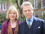 Service of Thanksgiving at St Pauls Church, Covent Garden, London Joanna David with her husband Edward Fox -16/04/2010