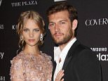 Mandatory Credit: Photo by Matt Baron/BEI/Shutterstock (5088176aa)..Alex Pettyfer and Marloes Horst..Harper's Bazaar 2nd annual 'Icons' Portfolio Party, New York, America - 16 Sep 2015..