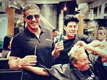 Sly Stallone March 18 officialslystalloneGiving my friend, Frankie P A little off the top. I might be the world's worst beautician.