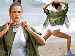 EXCLUSIVE: Alessandra Ambrosio does a photoshoot in Malibu in a silver one piece and Nike high tops. \n\nPictured: Alessandra Ambrosio\nRef: SPL1250297  210316   EXCLUSIVE\nPicture by: Splash News\n\nSplash News and Pictures\nLos Angeles: 310-821-2666\nNew York: 212-619-2666\nLondon: 870-934-2666\nphotodesk@splashnews.com\n