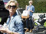 EXCLUSIVE: Charlize Theron takes Jackson and August to a children's party in Beverly Hills \n\nPictured: Charlize Theron\nRef: SPL1245855  190316   EXCLUSIVE\nPicture by: Splash News\n\nSplash News and Pictures\nLos Angeles: 310-821-2666\nNew York: 212-619-2666\nLondon: 870-934-2666\nphotodesk@splashnews.com\n