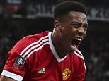 Football - FA Cup - MANCHESTER UNITED V WEST HAM - Manchester - Pic shows:- Anthony Martial equalises for Man United; 1-1