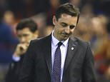 Gary Neville during the UEFA Champions League Group H match between Valencia and Lyon played at the Mestalla Stadium, Valencia on December 9th 2015