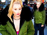 NEW YORK, NY - MARCH 22:  Singer Iggy Azalea is seen on the set of Good Morning America  on March 22, 2016 in New York City.  (Photo by Raymond Hall/GC Images)