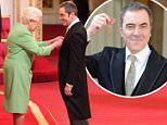 Actor James Nesbitt is made an OBE (Officer of the Order of the British Empire) by Queen Elizabeth II during an Investiture ceremony at Buckingham Palace. PRESS ASSOCIATION Photo. Picture date: Tuesday March 22, 2016. He received his award for services to drama and to the community in Northern Ireland - after spending years helping families affected by the Troubles. See PA story ROYAL Investiture. Photo credit should read: Jonathan Brady/PA Wire