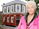 The Queen Vic pub, as EastEnders are planning for the Albert Square landmark to be destroyed by fire in the popular soap later this year. The dramatic scenes will spell the end of the current pub set after a quarter of a century. PRESS ASSOCIATION Photo. Issue date: Tuesday June 22, 2010. See PA story SHOWBIZ EastEnders. Photo credit should read: Adam Pensotti/BBC/PA Wire WARNING: This copyright image may be used only to publicise current BBC programmes or other BBC output. Any other use whatsoever without specific prior approval from the BBC may result in legal action. Undated BBC handout photo.