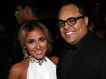 NEW YORK, NY - OCTOBER 25:  (L-R) Adrienne Bailon, Israel Houghton, and Galley Molina celebrate Adrienne Bailon's 30th birthday at Studio XXI on October 25, 2013 in New York City.  (Photo by Johnny Nunez/WireImage)