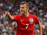 Jack Wilshere of England celebrates scoring their second goal during the UEFA EURO 2016 Qualifier between Slovenia and England on at the Stozice Arena on June 14, 2015 in Ljubljana, Slovenia.    (Photo by Stu Forster/Getty Images)