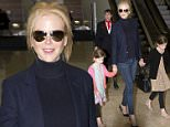 NICOLE KIDMAN AND DAUGHTERS SUNDAY ROSE AND FAITH ARRIVE HOME IN AUSTRALIA FOR EASTER\n24 March 2016\n�MEDIA-MODE.COM