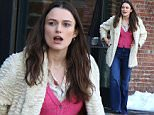 """Keira Knightley doing a reshoot scene at the """"Collateral Beauty"""" movie set in Dumbo \n\nPictured: Keira Knightley\nRef: SPL1250989  230316  \nPicture by: Jose Perez / Splash News\n\nSplash News and Pictures\nLos Angeles: 310-821-2666\nNew York: 212-619-2666\nLondon: 870-934-2666\nphotodesk@splashnews.com\n"""