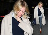 Actress Sienna Miller leaving Claridge's Hotel in London, UK. 23/03/2016..BYLINE MUST READ : JAMESY/GOTCHA IMAGES....Copyright by � Gotcha Images Ltd. All rights reserved...Usage of this image is conditional upon the acceptance ..of Gotcha Images Ltd, terms and conditions available at..www.gotchaimages.com