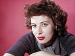 Portrait of American film actor and theater producer Rita Gam against a red background, 1950s. (Photo by Getty Images)