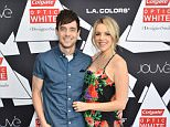 LOS ANGELES, CA - FEBRUARY 14:  Kevin Manno;Ali Fedotowsky attend the Colgate Optic White Beauty Bar ¿ Day 2 at Hudson Loft on February 14, 2016 in Los Angeles, California.  (Photo by Araya Diaz/Getty Images for BMF Media)