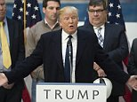 Republican presidential candidate Donald Trump speaks during a press conference at the Trump International Hotel in Washington, DC, March 21, 2016.\nTrump, not known for his foreign policy expertise, on March 21 unveiled a team of advisers drawn from the energy industry and the fringes of Washington's international affairs establishment. / AFP / Jim Watson        (Photo credit should read JIM WATSON/AFP/Getty Images)