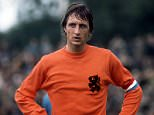 Johan Cruyff, Holland. UK SALES ONLY. File photo dated 1/1/1974