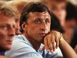 FILE - Dutch football legend Johan Cruyff dies at the age of 68 BARCELONA, SPAIN - SEPTEMBER 16: Johan Cruijff coach of Barcelona looks on during the Champions League round 1 match between FC Barcelona and Viking Stavanger at the Camp Nou Stadium on September 16, 1992 in Barcelona, Spain. (Photo by Bongarts/Getty Images)