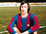 Johan Cruyff, Barcelona. File photo dated 10/8/1973. UK SALES ONLY